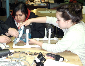 Students in Kodiak construct their ROVs