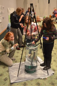 Ready, set, SINK! Faith Revell times how long it takes a plankton to sink to the bottom of the water column