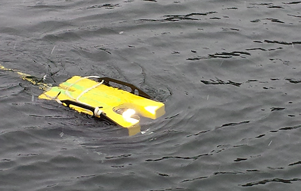 The ROV at the surface.