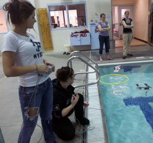 Students in Valdez test out their ROVs