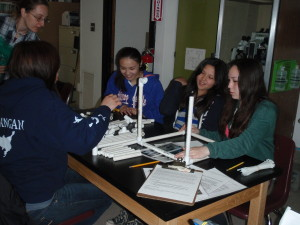 Students in St. Paul construct their ROV.